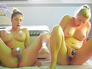 Horny Girls squirt on Webcam