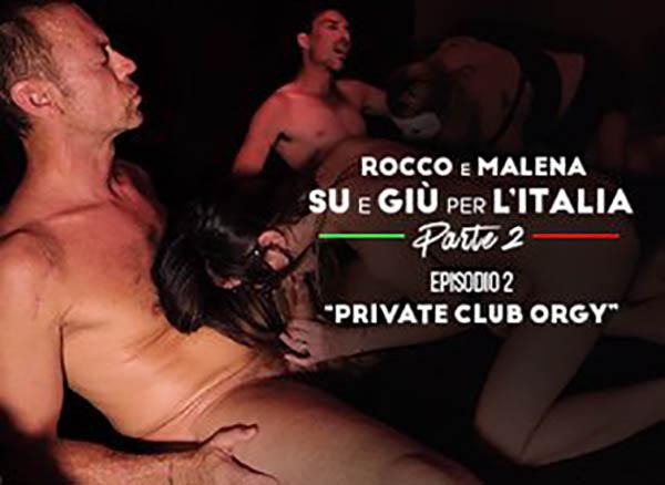 Rocco e Malena Private Club Orgy