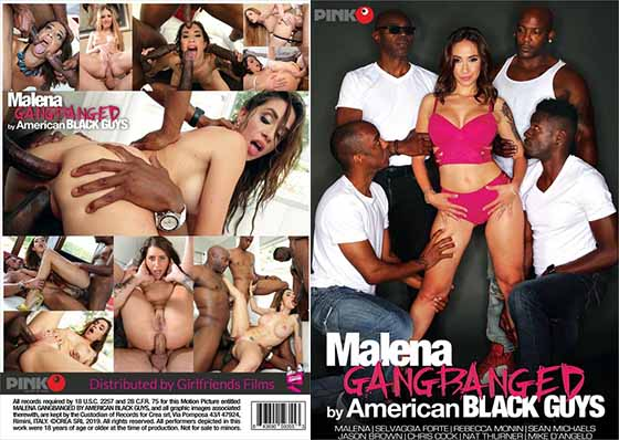 Malena Gangbanged By American Black Guys